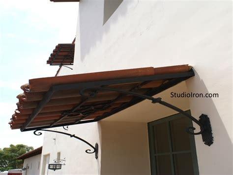 tiled roof  iron awning pergola spanish style