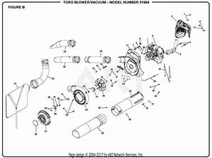 Homelite 51954 Blower  Vacuum S  N 310000001  U0026 Up Parts Diagram For Figure B