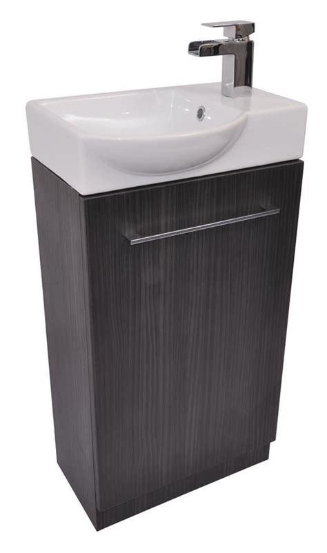 Grey Bathroom Cupboard by Grey Cloakroom Bathroom Vanity Cupboard Cabinet Unit Basin