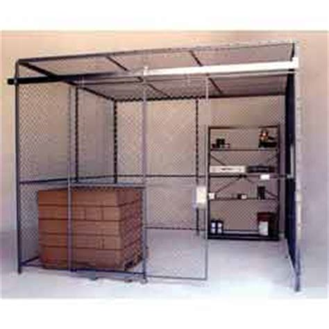 husky rack and wire wire mesh partitions security rooms at global industrial