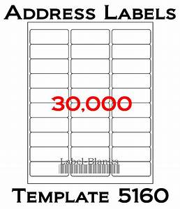 laser ink jet labels 1000 sheets 1 x 2 5 8 With avery template 5160 for pages