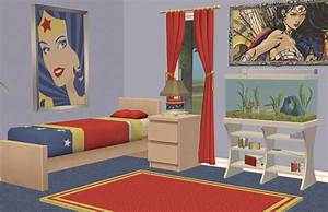 Mod The Sims Wonder Woman Bedroom All Ages