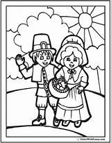 Thanksgiving Coloring Pilgrims Basket Sunshine Pilgrim Colorwithfuzzy Holiday Hat Pdf Harvest Fun Autumn Template sketch template