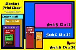 Standard Print Sizes