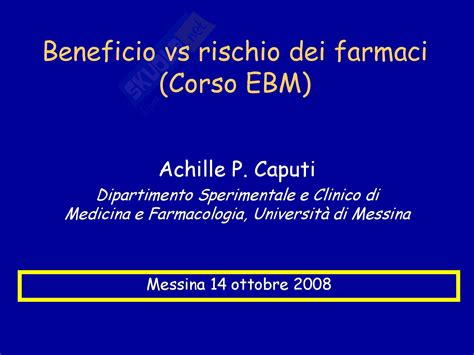 dispense medicina farmaci rischi e benefici dispense