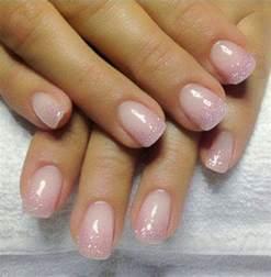 gel fingernã gel design gel backfill with led pink and silver sprinkle acrylic gel nail