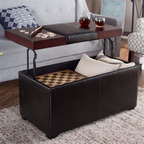 Bench Table With Storage by Storage Ottoman Lift Top Black Coffee Table Bench Leather
