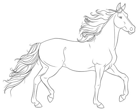 Coloring Pages Realistic Horse Coloring Pages