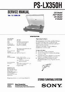 Sony Ps-lx350h Service Manual