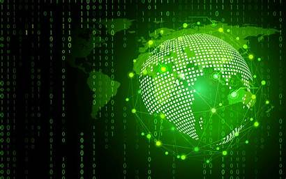 Background Computer Technology Binary Abstract Circle Cyber