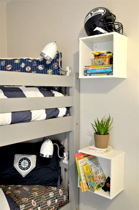 diy bunk bed shelf   bunk bed plans