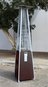 pyramid pow coated heater outdoor patio tower