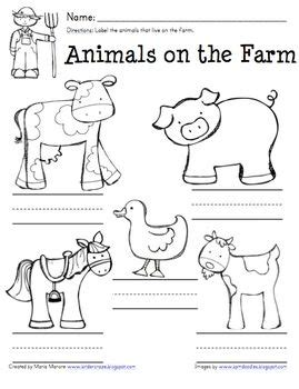 farm animal labeling worksheet great for invented spelling at school farm unit farm