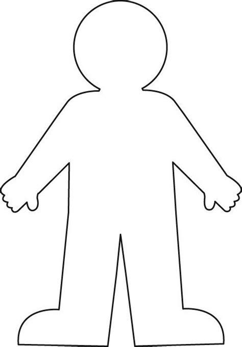 human body outline printable clipartsco