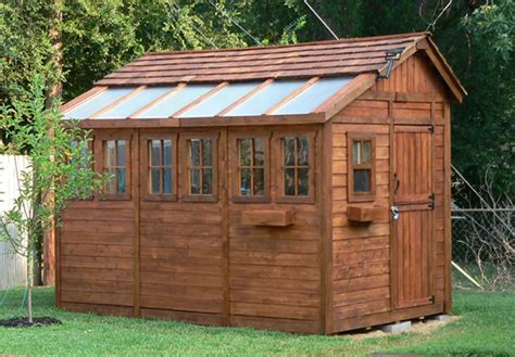 8x12 storage shed ideas 8 x 12 sunshed cedar garden shed and greenhouse ssgs812