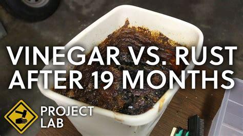 rust vinegar removal metal worklad