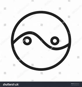 Two Circles Diagram Icon Vector Image Stock Vector