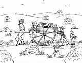 Pioneer Coloring Pages Handcart 2bpioneer 2bfamily Children Template sketch template