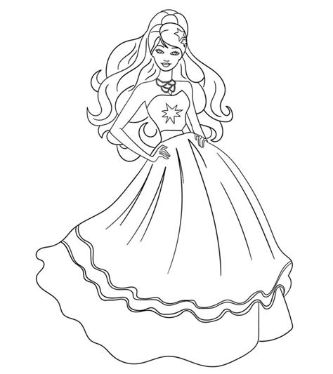 top   printable barbie coloring pages
