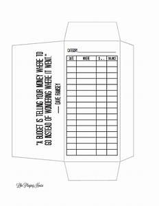 envelope budget template envelope templates pinterest With envelope budget system template