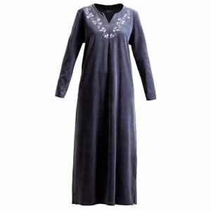 robe d39hotesse noire a broderies taille 42 44 achat et vente With robe hotesse velours