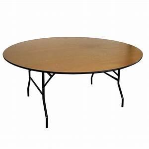 Table Pliante Ronde : table pliante ronde en bois 10 places mobeventpro ~ Teatrodelosmanantiales.com Idées de Décoration