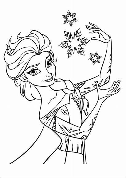 Princess Colouring Coloring Pages Template Templates Elsa