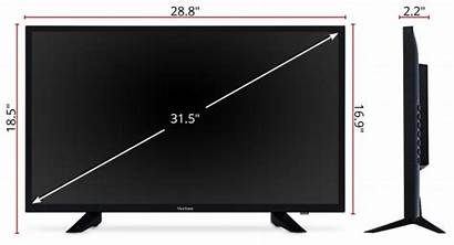 Dimensions 52 32 Mm Viewsonic Display Commercial
