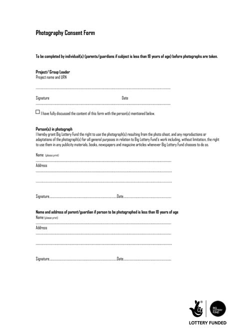 Photography Consent Form - DOC by dfhrf555fcg