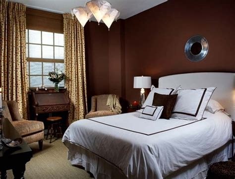 The Bedroom In Chocolate Color  Home Interior Design