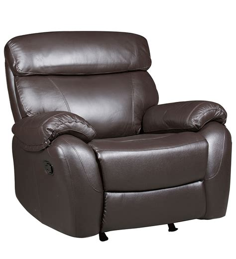 pure leather sectional sofas single seater pure leather recliner rocker sofa in brown