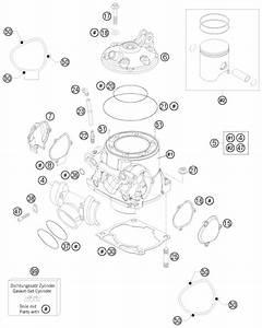 Ktm Fiche Finder Cylinder Head Spare Parts For The Ktm 250 Sx