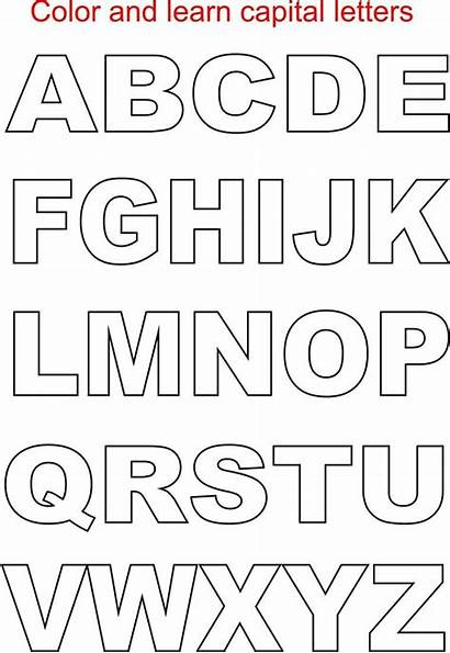 Letter Capital Alphabets Alphabet Printable Studyvillage Via