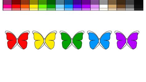 rainbow butterfly clipart rainbow color pencil and in