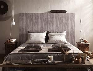 Papier Peint Imitation Lambris : une t te de lit en papier peint imitation bois bed room pinterest papier peint ~ Melissatoandfro.com Idées de Décoration