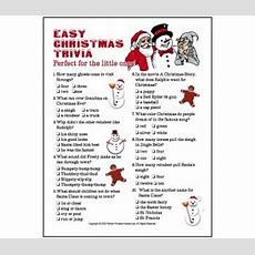 Printable Christmas Trivia Questions  Easy Christmas Trivia For Kids Or Adults! Christmas
