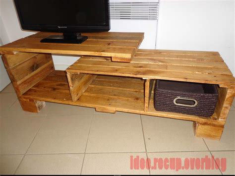meuble tv en palette idee recup