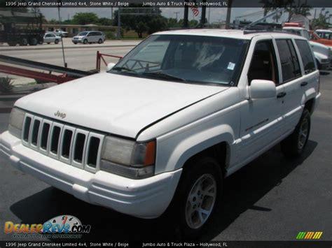 beige jeep grand 1996 jeep grand cherokee limited 4x4 stone white beige