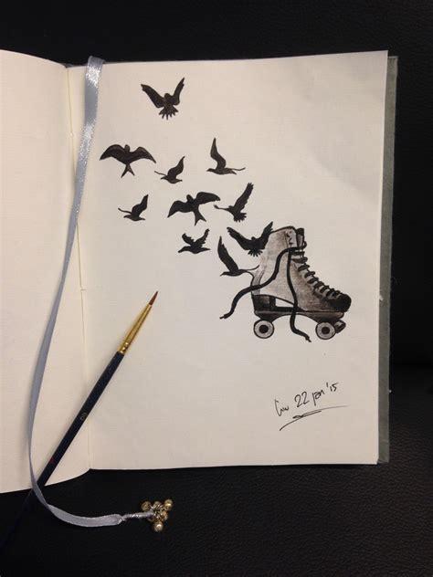 love skates tattoo drawing   linda da linci