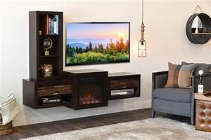 floating wall mount tv stand with fireplace and bookcase With wall mount tv stand never die