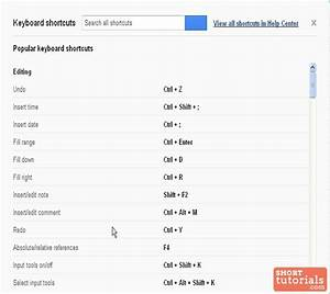 Find keyboard shortcuts in google docs spreadsheets for Google docs spreadsheet shortcuts