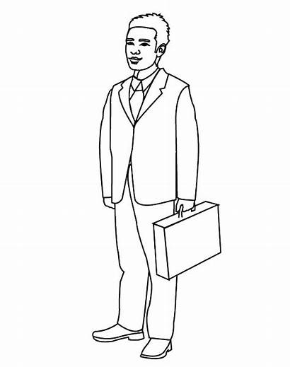 Coloring Pages Business Businessman Looking Tocolor Place