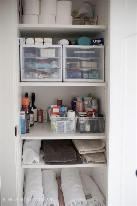 ideas  bathroom closet organization