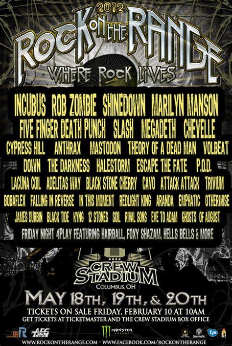 rock on the range all metal festivals