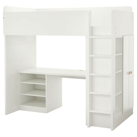 ikea loft bed with desk stuva följa loft bed combo w 2 shelves 2 doors white