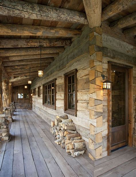 wrap  porch  dovetail log corners log homes log cabin homes cabin homes