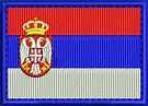 Design embroidery Flag of Serbia Rectangle with Colour ...