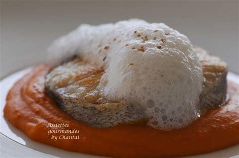 cuisiner du merlu darnes de merlu purée de potimarron et écume coco