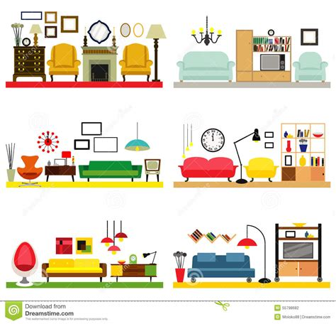 Living Room Clipart by Furniture Clipart Living Room Pencil And In Color