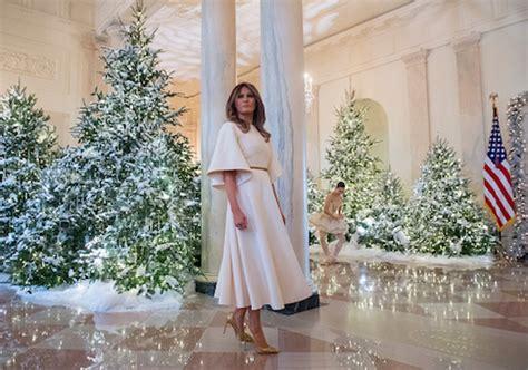 fashion media attack melania  white house christmas